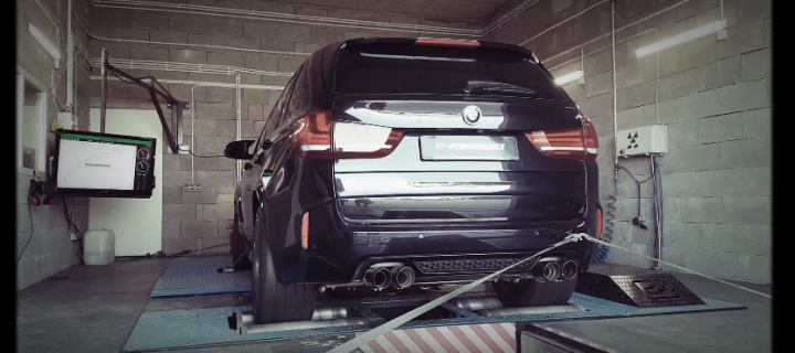 TomaRacing dyno – BMW X5M Stage 3 PP-Performance Polska Akrapovic exhaust