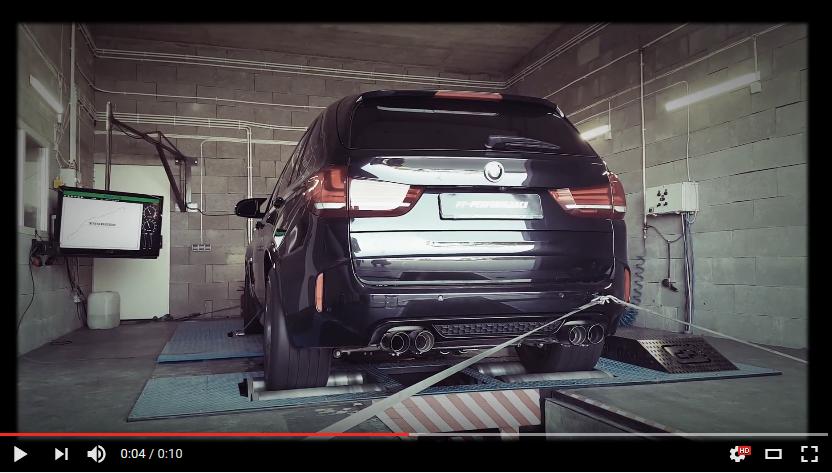 TomaRacing dyno – BMW X5M Stage 3 PP-Performance Polska Akrapovic exhaust