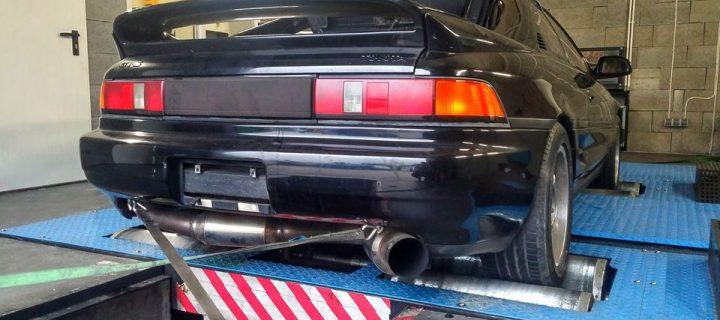 Strojenie na naszej hamowni Toyota MR2 3SGTE