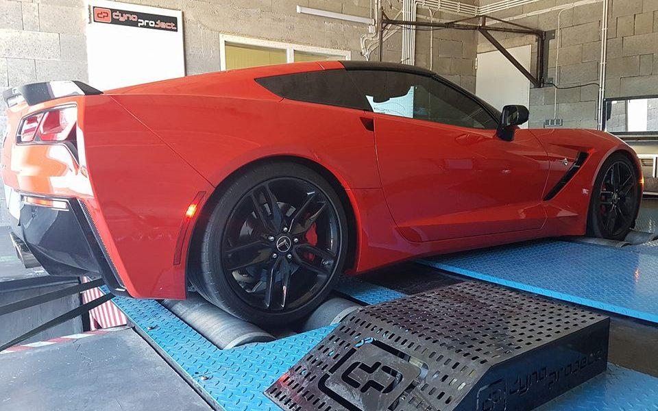 Chevrolet Corvette C7 na naszej hamowni pod Warszawą